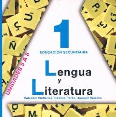 Libros de segunda mano: LIBRO DE TEXTO LENGUA Y LITERATURA 1 EDUCACIÓN SECUNDARIA ANAYA UNIDADES 5 A 8. Lote 58013182