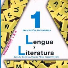 Libros de segunda mano: LIBRO DE TEXTO LENGUA Y LITERATURA 1 EDUCACIÓN SECUNDARIA ANAYA UNIDADES 1 A 4. Lote 58013215