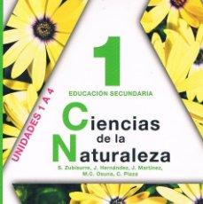 Libros de segunda mano: LIBRO DE TEXTO CIENCIAS DE LA NATURALEZA 1 EDUCACIÓN SECUNDARIA ANAYA UNIDADES 1 A 4. Lote 58013356