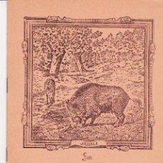 Livres d'occasion: ANTIGUO CUADERNO ESCUELA SAM PORTADA JABALI. Lote 172429649