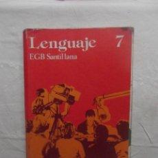 Libros de segunda mano: LENGUAJE 7 EGB SANTILLANA. Lote 58412378