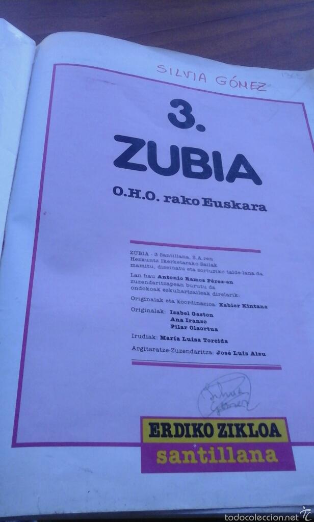 Libros de segunda mano: Zubia 3.santillana.89 - Foto 2 - 58451892
