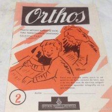 Libros de segunda mano: ORTHOS , CUADERNO NUMERO 2, EDITORIAL MIGUEL SALVATELLA, NUEVO. Lote 58668379
