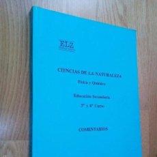 Second hand books - CIENCIAS DE LA NATURALEZA FÍSICA Y QUÍMICA. EDUCACIÓN SECUNDARIA 3º Y 4º - COMENTARIOS / HIERREZUELO - 60166483