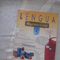 Libros de segunda mano: M69 LIBRO DE TEXTO 5 E.G.B. EGB LENGUAJE MAGISTERIO CASALS. Lote 60195079