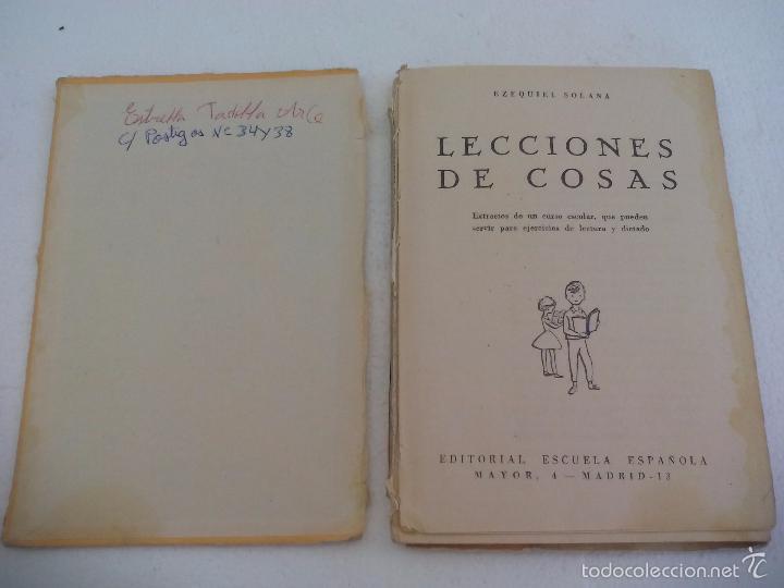 Libros de segunda mano: Lecciones de Cosas. Ezequiel Solana. Editorial Escuela Española.. 1963 - Foto 2 - 60990827