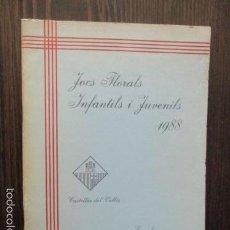 Libros de segunda mano: JOCS FLORALS INFANTILS Y JUVENILS 1988 - ESCOLA BONAVISTA. Lote 61207527
