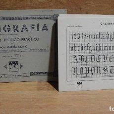 Libros de segunda mano: CALIGRAFIA ,METODO TEORICO PRACTICO - ANGEL GARCIA CARRIÓ - AÑO 1945. Lote 61553848