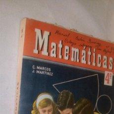 Libros de segunda mano: RC270 LIBRO DE TEXTO ESCUELA MATEMATICAS 4º C. MARCOS J. MARTINEZ. Lote 61695468