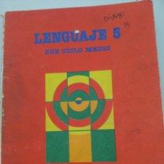 Libros de segunda mano: EGB. LENGUAJE 5º. CICLO MEDIO. SANTILLANA. Lote 61990960