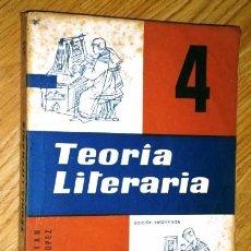 Libros de segunda mano: TEORÍA LITERARIA 4º BACHILLER POR CARMEN PLEYÁN Y JOSÉ GARCÍA DE ED. TEIDE EN BARCELONA 1967. Lote 62387188