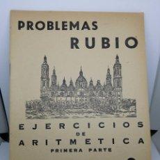 Libros de segunda mano: CUADERNO PROBLEMAS RUBIO 1959 - EJERCICIOS DE ARITMÉTICA PRIMERA PARTE - CUADERNO 9 - COMO NUEVO. Lote 67407445