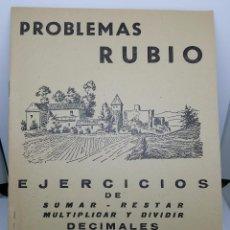 Libros de segunda mano: CUADERNO PROBLEMAS RUBIO 1959 - EJERCICIOS DE DECIMALES - CUADERNILLO Nº 6 - COMO NUEVO. Lote 67407677