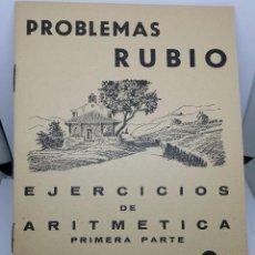Libros de segunda mano: CUADERNO PROBLEMAS RUBIO 1959 - EJERCICIOS DE ARITMÉTICA - 1ª PARTE - CUADERNILLO Nº 8 - COMO NUEVO. Lote 67408133
