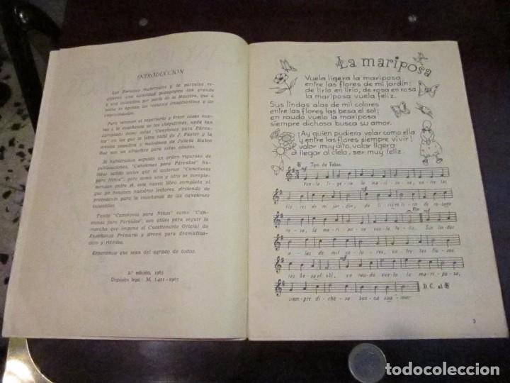 Libros de segunda mano: Canciones para parvulos, editorial escuela Esppañola, 1963 - Foto 2 - 67889005