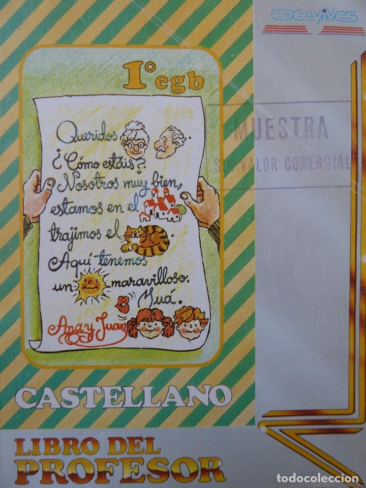 CASTELLANO 1º EGB. LIBRO DEL PROFESOR (AÑO 1985) (Libros de Segunda Mano - Libros de Texto )