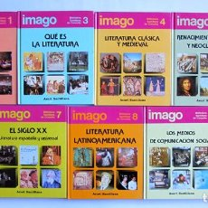 Libros de segunda mano: LOTE 9 LIBROS. MÓDULO LITERATURA, COMUNICACIÓN Y ARTE. BIBLIOTECA SANTILLANA DE CONSULTA. Nº1,3,4,5,. Lote 71237202