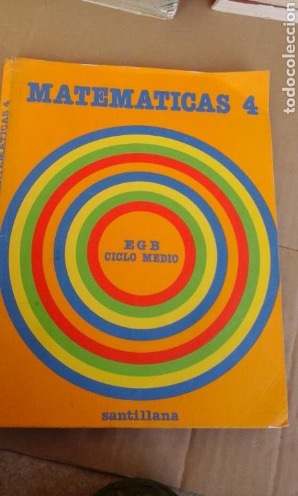 MATEMATICAS 4.SANTILLANA (Libros de Segunda Mano - Libros de Texto )