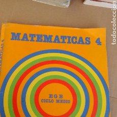 Libros de segunda mano: MATEMATICAS 4.SANTILLANA. Lote 71605905