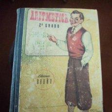Libros de segunda mano: ARITMETICA, 2º GRADO, EDICIONES BRUÑO, CURSO MEDIO, 1955 TAPAS DURAS, 336 PAGINAS.. Lote 73760847