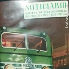 Libros de segunda mano: NOTICIARIO MILITAR DE FERROCARRILES. 1958. Lote 74356935