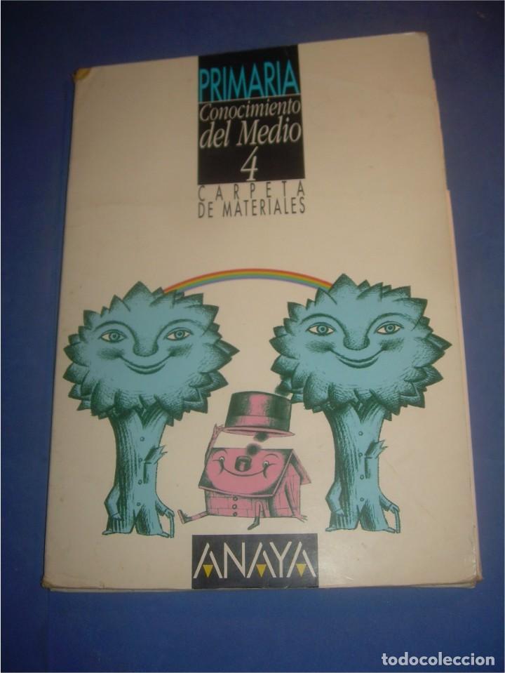 CONOCIMIENTO DEL MEDIO 4 PRIMARIA. CARPETA DE MATERIALES. ANAYA 1995.  ESCOLAR