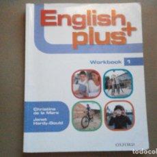 Libros de segunda mano: 1 LIBRO TEXTO AÑO 2010 - INGLES - ENGLISH PLUS ( OXFORD - WORKBOOK 1 ). Lote 75454313