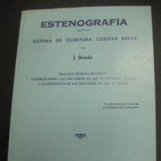 Libros de segunda mano: ESTENOGRAFIA.SISTEMA DE ESCRITURA CURSIVA BREVE. J. BOADA. PUBLICACIONES COTS. BARCELONA. 1983.. Lote 75701315
