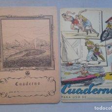 Libros de segunda mano: LOTE DE 2 LIBRETAS O CUADERNOS ANTIGUOS. Lote 77002897