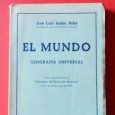 Second hand books - EL MUNDO - GEOGRAFÍA UNIVERSAL - BOSCH CASA EDITORIAL - 1956 - 77600125