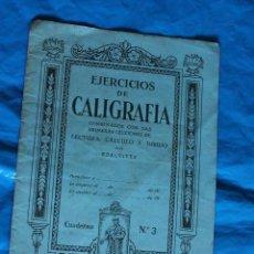 Libros de segunda mano: EJERCICIOS DE CALIGRAFIA POR EDELVIVES, CUADERNO Nº 3. Lote 77957257