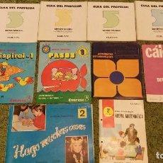 Libros de segunda mano: LOTE EGB EDELVIVES ANAYA ALVAREZ DE EGB - GUÍA DEL PROFESOR - MATERIALIZACIONES - MATEMATICA. Lote 78280389