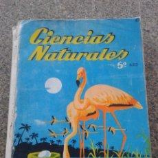 Libros de segunda mano: CIENCIAS NATURALES -- 5º AÑO -- EDICIONES S. M. -- 1968 --. Lote 206313063