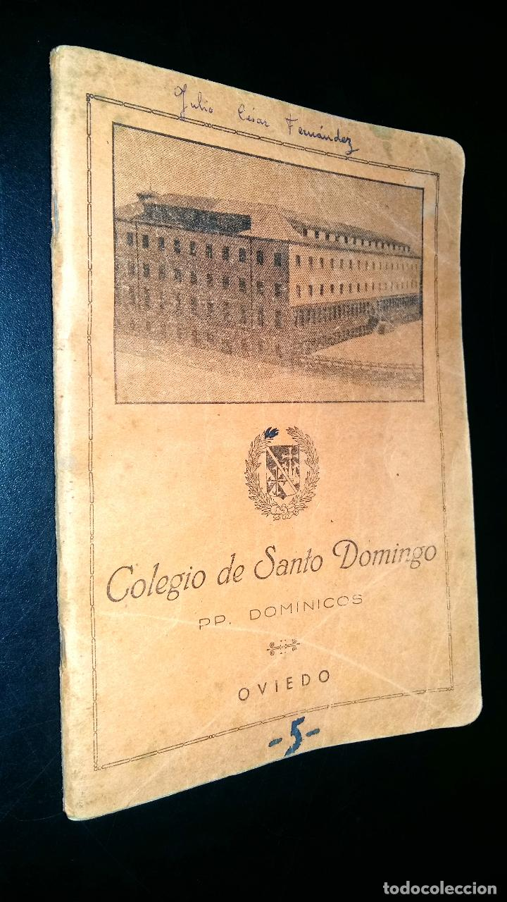 COLEGIO DE SANTO DOMINGO / PP DOMINICOS / OVIEDO / MANUSCRITO CUADERNO ESCOLAR / ESCRITO / 1959 (Libros de Segunda Mano - Libros de Texto )