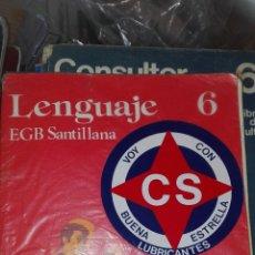Libros de segunda mano: LENGUAJE 6 EGB SANTILLANA. Lote 83028082