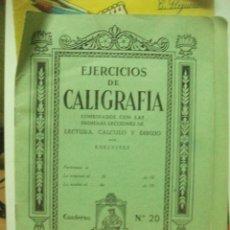 Libros de segunda mano: EJERCICIOS DE CALIGRAFIA CUADERNO NUMERO 20 ELDELVIVES. Lote 83516604