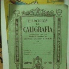 Libros de segunda mano: EJERCICIOS DE CALIGRAFIA CUADERNO NUMERO 20 ELDELVIVES. Lote 83516756