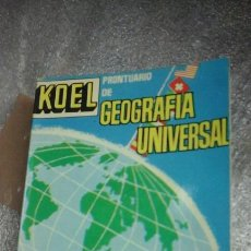 Libros de segunda mano: KOEL.GEOGRAFIA UNIVERSAL.18. Lote 83655652