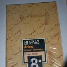 Libros de segunda mano: ANAYA ANTOS LECTURAS Y COMENTARIOS 8 EGB TROPOS. Lote 83758092