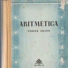 Libros de segunda mano: ARITMÉTICA TERCER GRADO EDELVIVES S. F. . Lote 84078584