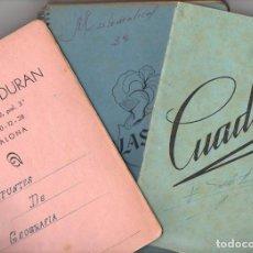 Libros de segunda mano: TRES CUADERNOS ESCOLARES AÑOS '50 DEL SIGLO PASADO. Lote 84097012