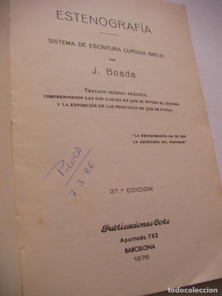 Libros de segunda mano: ANTIGUO LIBRO DE ESTENOGRAFIA - SISTEMA DE ESCRITURA CURSIVA BREVE - Foto 2 - 85348332