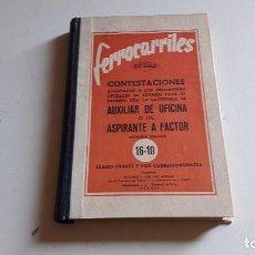 Gebrauchte Bücher - FERROCARRILES..ACADEMIA RUIZ AGULLO..CONTESTACIONES.. - 85499584