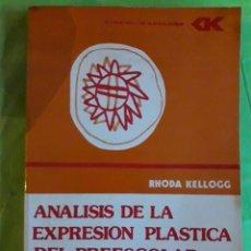 Libros de segunda mano: ANÁLISIS DE LA EXPRESIÓN PLÁSTICA DEL PREESCOLAR / RHODA KELLOGG / CINCEL / 1ª EDICIÓN 1979. Lote 85742688