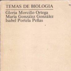 Libros de segunda mano: TEMAS DE BIOLOGÍA - MORCILLO, GONZÁLEZ Y PORTELA - UNED, MADRID, 1990.. Lote 85874360