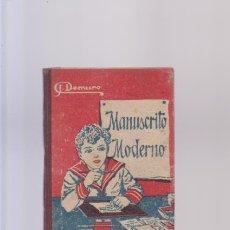 Libros de segunda mano: MANUSCRITO MODERNO - J. DEMURO - VIUDA DE JUAN ORTIZ EDITORIAL / MADRID. Lote 85923556