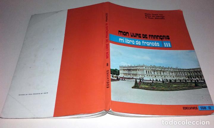 antiguo libro frances mon livre de français iii - Comprar