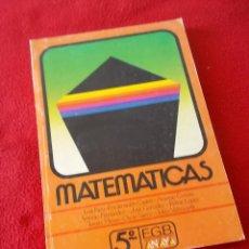 Libros de segunda mano: MATEMATICAS 5º E.G.B - ANAYA 1987 - ( NUEVO , SIN USAR ). Lote 89750572