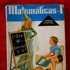 Libros de segunda mano: MATEMATICAS 1 (AÑO 1963) - EDICIONES S.M.- CONSTANTINO MARCOS. Lote 89790316