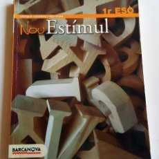 Libros de segunda mano: LLENGUA CATALANA I LITERATURA- NOU ESTIMUL 1º ESO. Lote 90133172